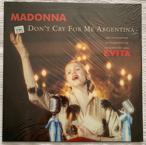 "Madonna - Don't Cry For Me Argentina UK 12"" LP Original VINYL (New/sealed)"