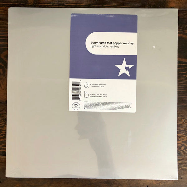 Barry Harris Feat. Pepper Mashay ‎- I Got My Pride: Remixes - LP Vinyl Factory Sealed - New