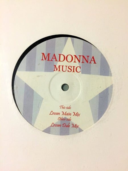 "Madonna - MUSIC 2005 White Label Remix 12"" Vinyl LP"