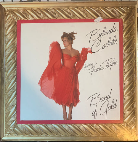 "Belinda Carlisle - BAND OF GOLD (Gold vinyl) Used 12"" remix LP Vinyl"