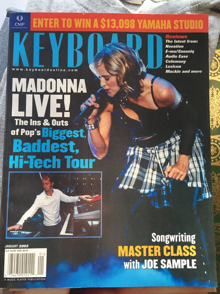 Madonna - Keyboard Magazine 2002