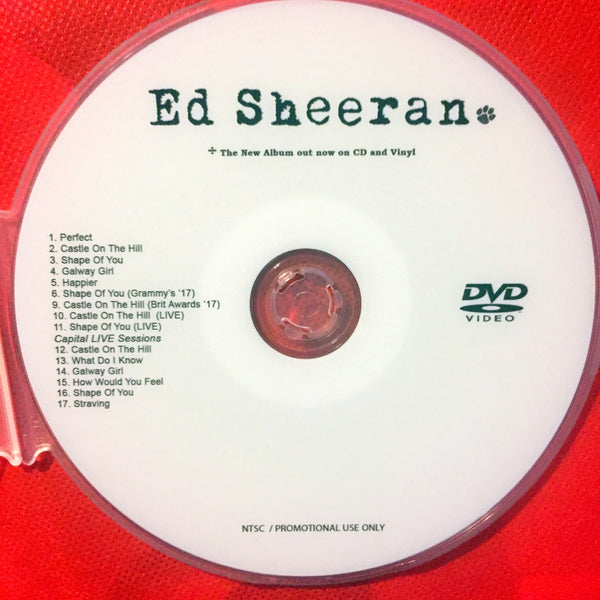Ed Sheeran - DIVIDE Music Videos and LIVE DVD (NTSC)