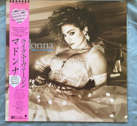 Madonna - Like A Virgin JAPAN LP Vinyl - W/ OBI strip