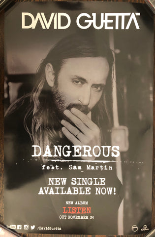 David Guetta - Dangerous - Promo Poster (double sided)