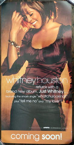 Whitney Houston - Just Whitney... - Promo Poster (double sided)