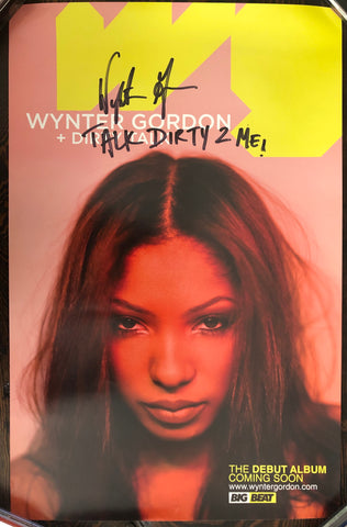 Wynter Gordon - Dirty Talk - Promo Poster - Autographed