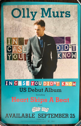 Olly Murs - In Case You Didn't Know - Promo Poster