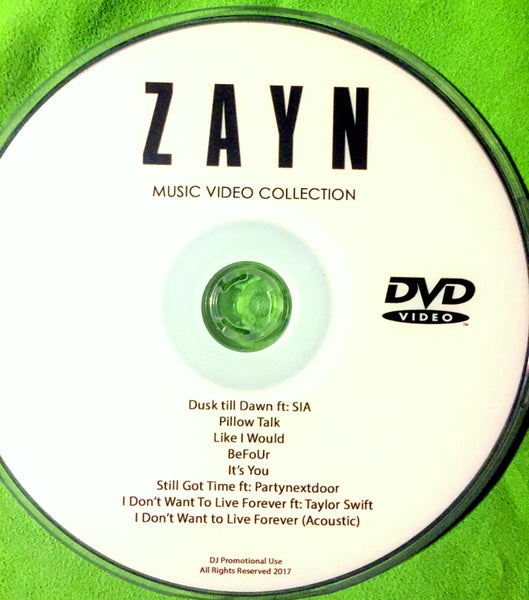 Zayn Malik - DVD music video collection (NTSC)