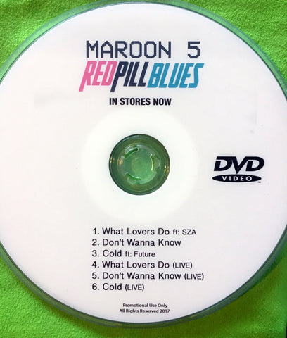 Maroon 5 DVD single Red Pill Blues