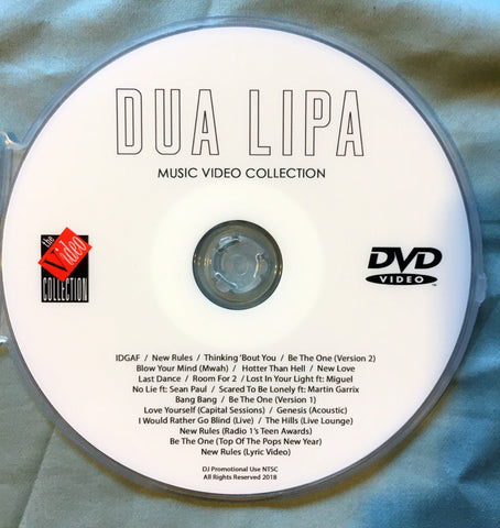 DUA LIPA -  DVD collection of music videos & LIVE
