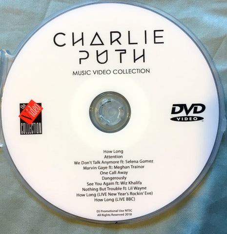 Charlie Puth - DVD Music videos & LIVE