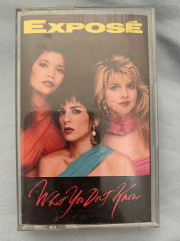 Expose - What You Don't Know - Audio cassette -Used