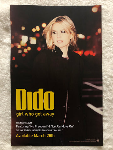 Dido - Girl Who Got Away - Double Sided Promo Poster