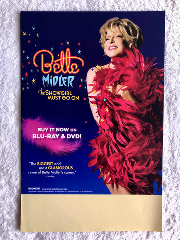 Bette Midler - The Showgirl Must Go On - Double Sided Promo Poster