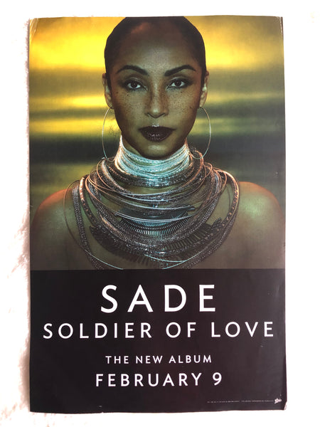 SADE - Soldier of Love - Double Sided Promo Poster