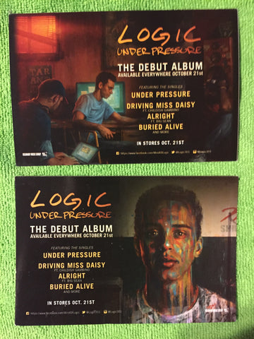 Logic - Under Pressure promo postcard - you get 2!