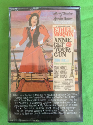 Ethel Merman - Annie Get Your Gun -Audio Cassette (NEW)
