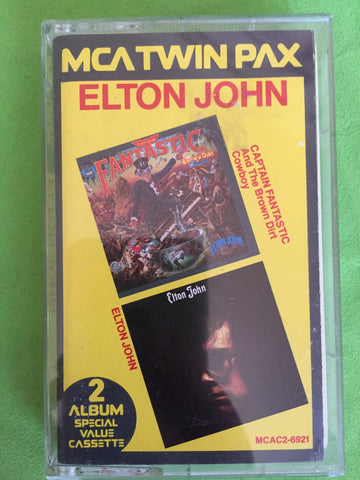 Elton John - Twin Pax Audio Cassette : Captain Fantastic & Self Titled. Used