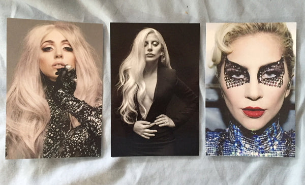 Lady GaGa - 3 Postcards 4x6