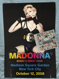 Madonna - NYC Limited edition Official Tour poster Sticky & Sweet 2008