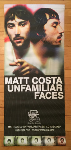 "Matt Costa - Promo Banner Large ""Unfamiliar Faces"""
