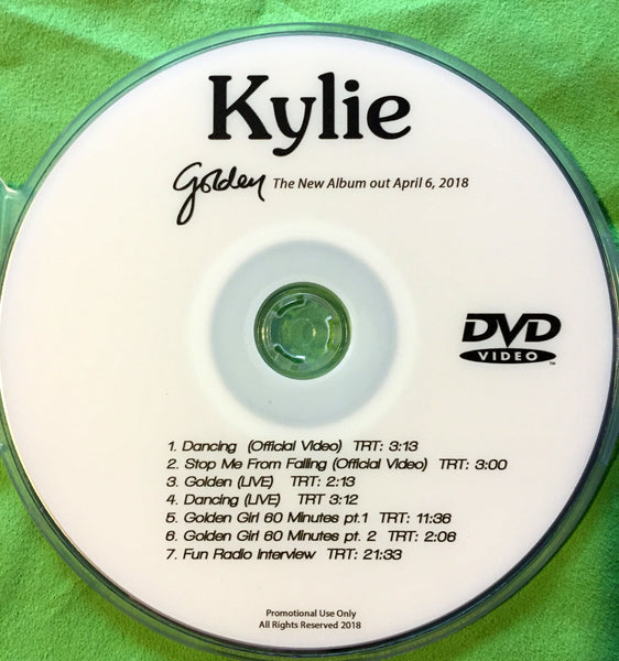 Kylie Minogue - GOLDEN DVD Promos Videos, LIVE, Radio, TV