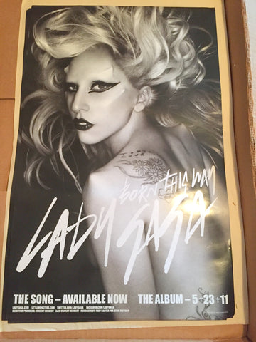 Lady GaGa - Born This Way Official promo poster 14x22