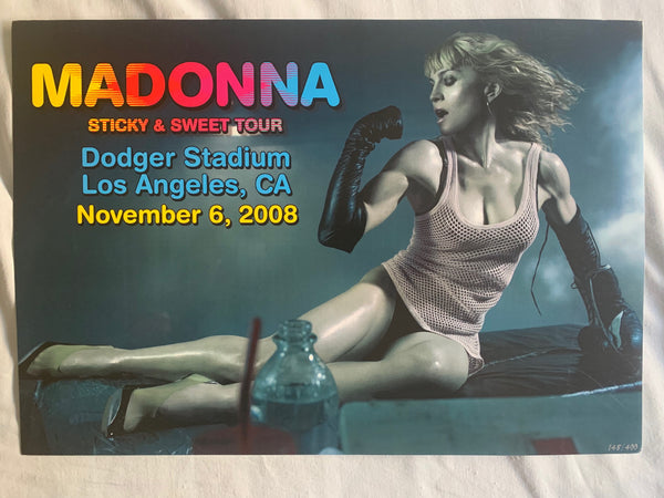 Madonna LA 2008 Sticky & Sweet Tour limited numbered print /poster