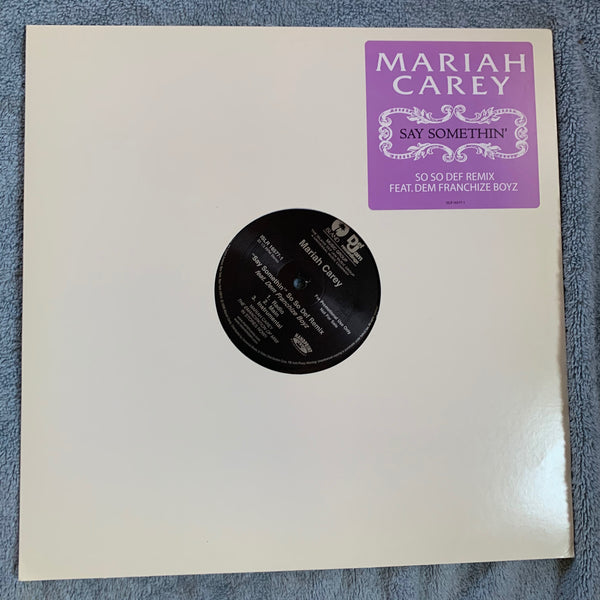 "Mariah Carey - ""Say Somethin"" So So Def Remix  12"" LP vinyl Promo"