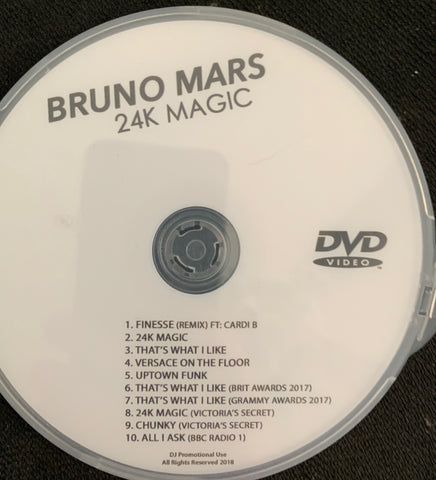 Bruno Mars - 24K Magic Video collection DVD.