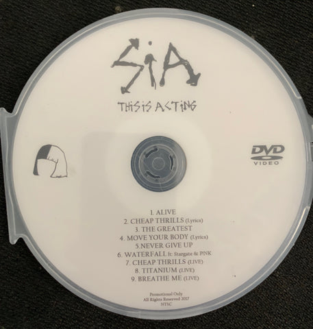SIA - This Is Acting DVD promo music video collection