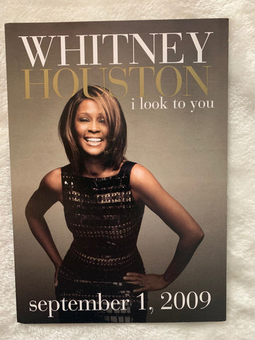 Whitney Houston - I LOOK TO YOU  5x7 promo card (official)