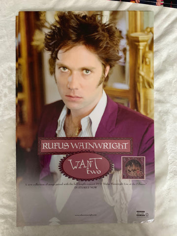 Rufus Wainwright - 11x17 promo poster WANT TWO