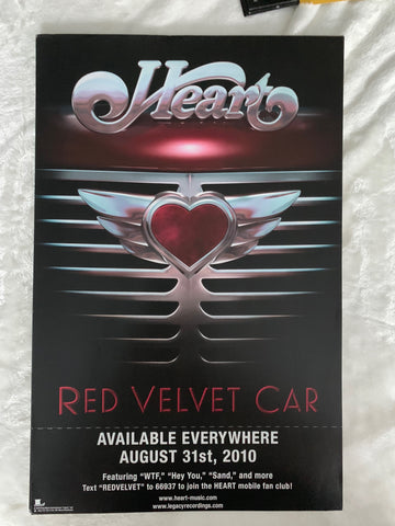 Heart - promo 11x17 poster  RED VELVET CAR