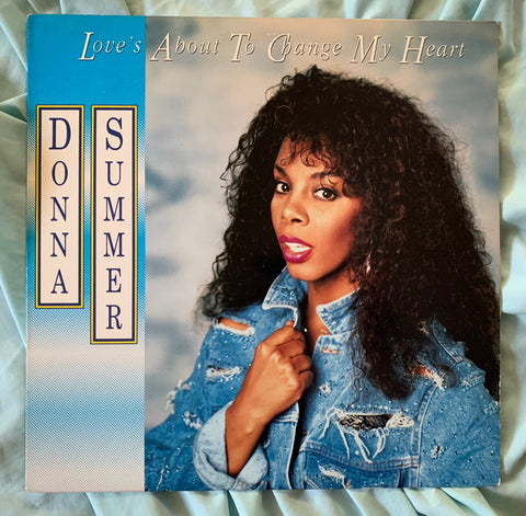 "Donna Summer -Love's About To Change My Heart 12"" LP VINYL -used"