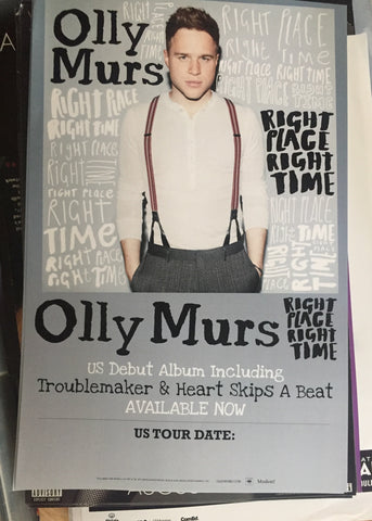 Olly Murs - Right Place Right Time - Promo poster 11x17