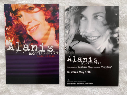 Alanis Morissette 2 promotional post cards  4x6