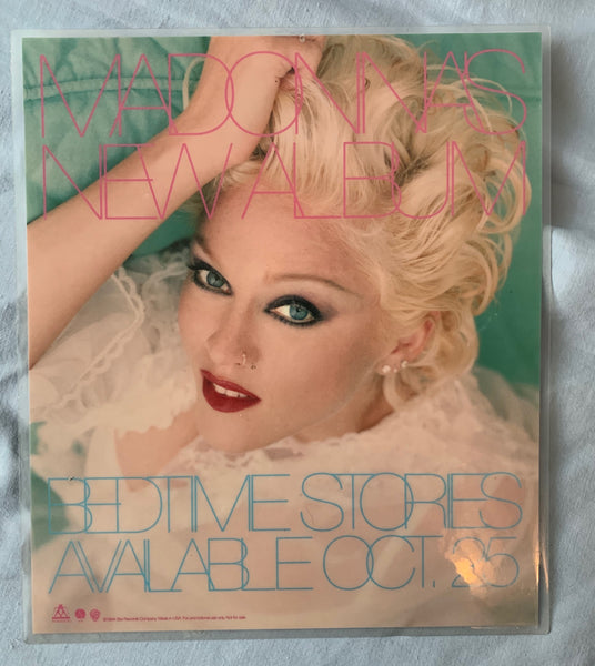 Madonna Bedtime Stories Promotional Counter display / Laminated (no stand)