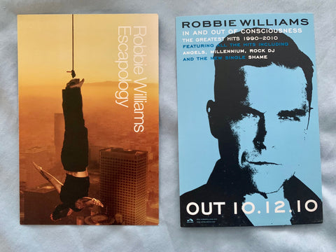 Robbie Williams 2 promo postcards 4x6