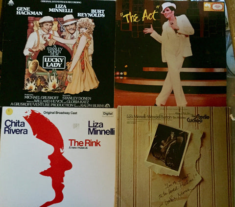 Liza Minnelli - 4 original LP Soundtracks Vinyl Records - used