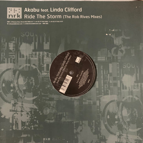 "Akabu ft: Linda Clifford - Ride The Storm (The Rob Rives Mixes) 12"" Vinyl - Used"