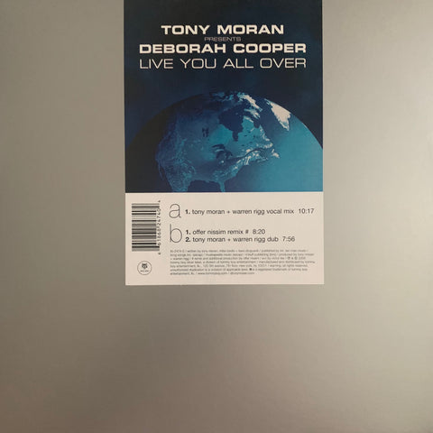 "Tony Moran ft: Deboarah Cooper - LIVE YOU ALL OVER 12"" LP VINYL - used"