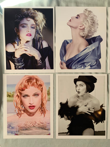 Madonna - LOT of 4 Glossy photo prints (Lucky Star, True Blue, 90s Herb Ritts)