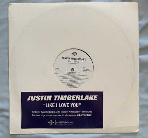 "Justin Timberlake - Like I Love You (Advanced 12"" Promo) LP"