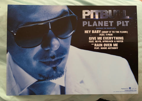 Pitbull -- Planet Pit promotional poster flat