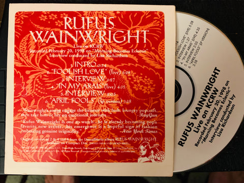 Rufus Wainwright - LIVE on KCRW (Promo CD)