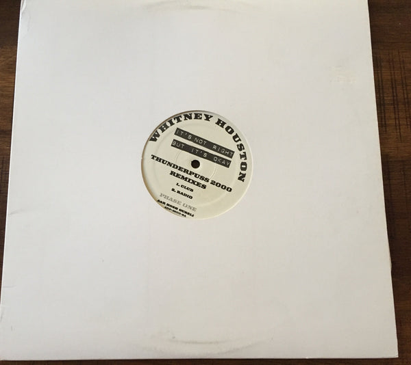 "Whitney Houston - Promo 12""  It's Not Right, But It's Okay  Vinyl"