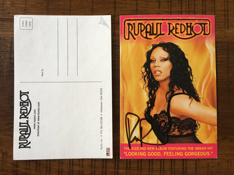 Ru Paul (RuPaul) official SIGNED autographed 4x6 promo postcard