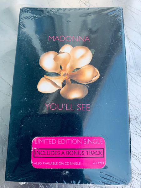 Madonna - You'll See -- cassette single (US) New/ still sealed.