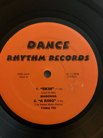 "Dance Rhythm Records - DJ PROMO 12"" remix LP VINYL : Madonna, Sting, Towa Tei"